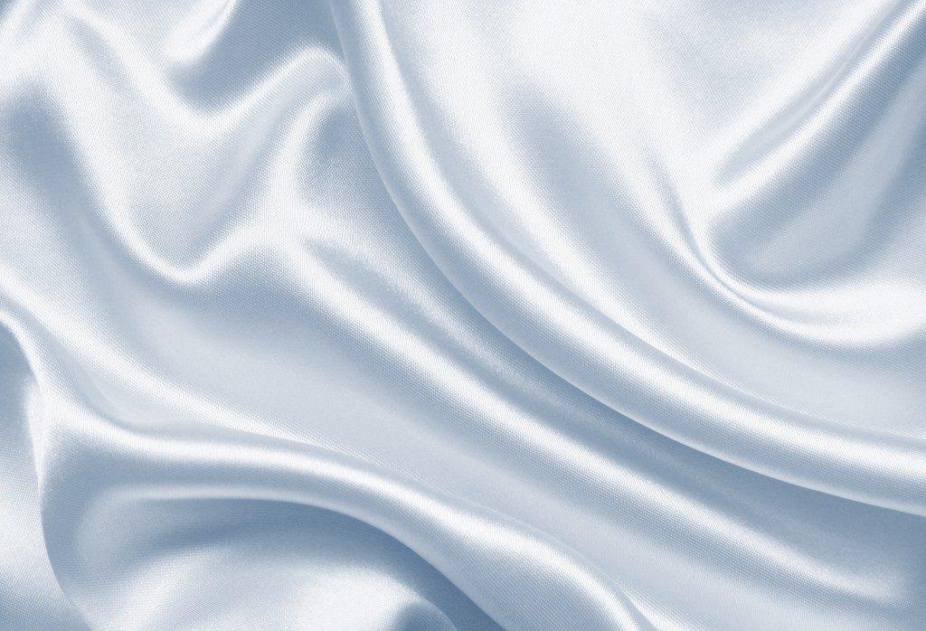 Smooth gray silk fabric