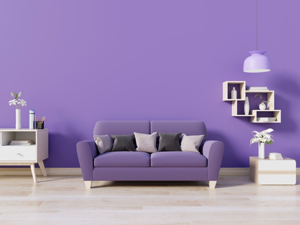 Purple ispired living room